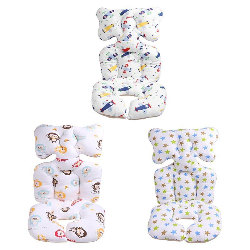 Warm Cushion Pad Baby Printed Stroller Cotton Seat Mattresses Pillow Cover Child Carriage Cart Elasticity Thicken Pad Trolley