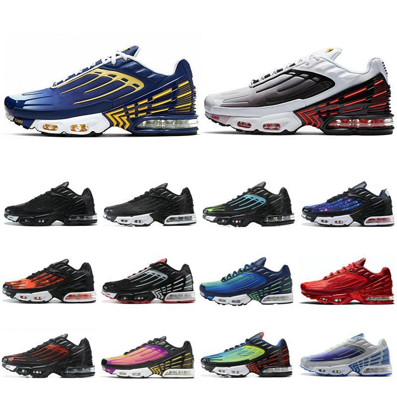 Femmes Hommes Chaussures de course Tn 3 Laser Bleu TN Tuned Plus 3 III Profonde Royal Black Red formateurs Hyper Crimson royal chaussures de sport