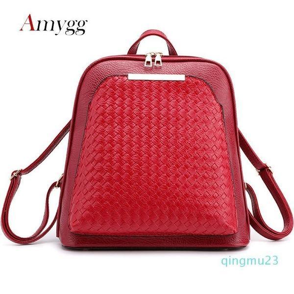Дизайнер-Новый женский рюкзак Кожа PU ранцы для девочек-подростков Женский рюкзак мешок плеча дамы путешествия рюкзак