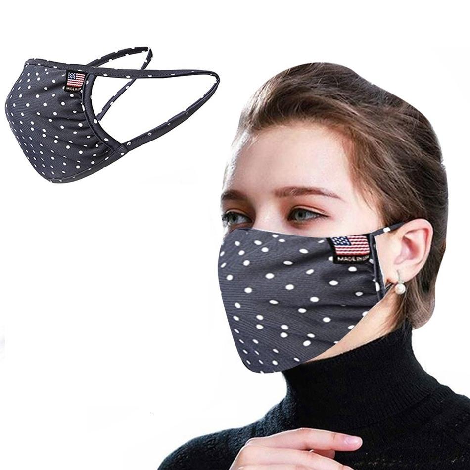 Coton Anti été Stripe mince poussière Masque réutilisable respirant Lavable pratique de protection extérieure pour adultes Bouche Couverture Ljjp230-2