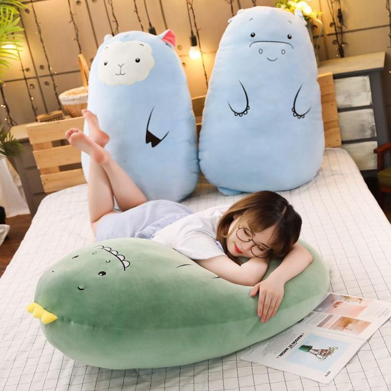 50 см Симпатичные плюшевые подушки динозавра фаршированные животные мягкие куклы динозавров плюшевые игрушки подарки с сонной куклы длинные подушки kka8082