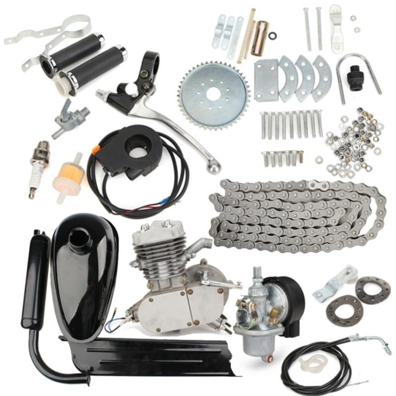 الدواسات 80cc 2 دراجة نارية السكتة الدماغ البنزين محرك كيت ل diy الدراجة الجبلية الكهربائية كاملة مجموعة محرك الغاز
