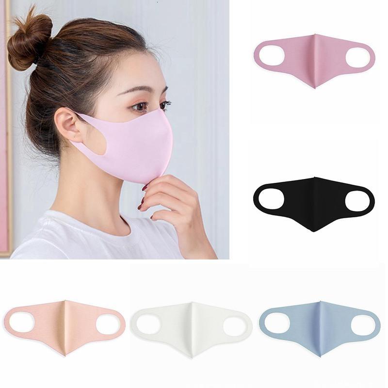 имеется в наличии Face Ice шелкового Mouth Обложка РМ2,5 маска Респиратор пылезащитный моющийся многоразовые Дизайнер Маски Iia396
