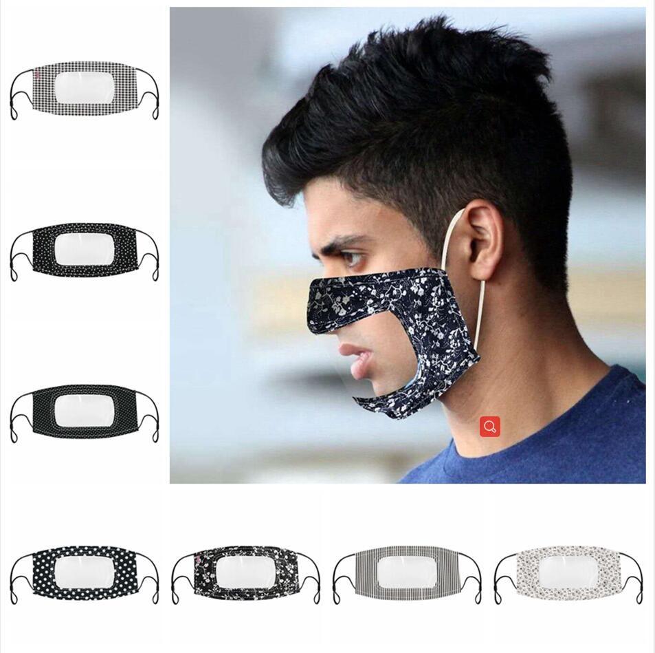 Visível Máscara Boca Face Com Limpar janela Lip Língua Leitura Surdos Anti reutilizável poeira lavável Ear laço ajustável cobrir a boca LJJP198