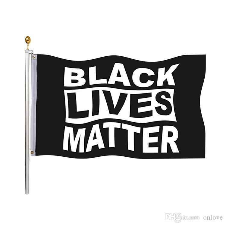 Siyah Hayatlar Matter Bayrak değil Breathe Adalet Hareketi 3 * 5 ft HH9-3 Kapalı Açık Demokratlar I Can İçin 90 * 150cm Bahçe Bayrak Banner Duvar Bayrağı
