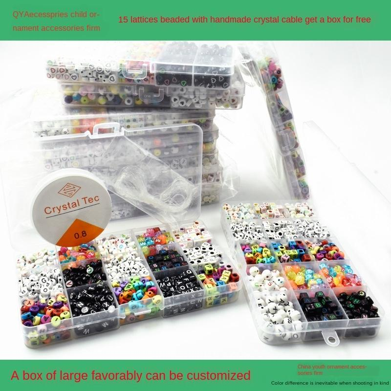 00Scm DIY aksesuarları Diy Aksesuarlar çocukların erken eğitim el yapımı boncuk malzeme akrilik dijital İngilizce mektup boncuk seti
