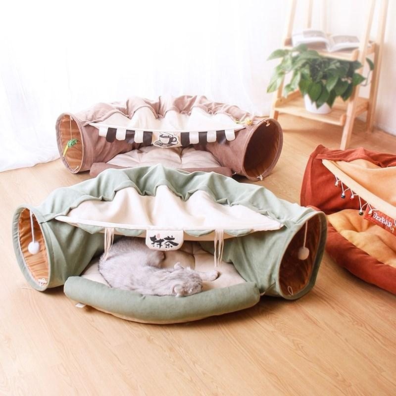 Cat Tunnel Cat Bed Channel Totoro Nest All Seasons Villa Toy Washable Puzzle Bed House