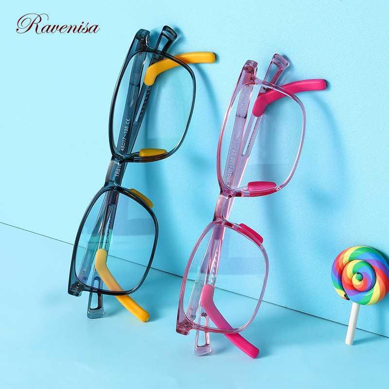 2020 Модные Оптические прозрачные очки для мальчиков синий свет Блокировка TR90 квадратная рамка Компьютерные очки Детские очки