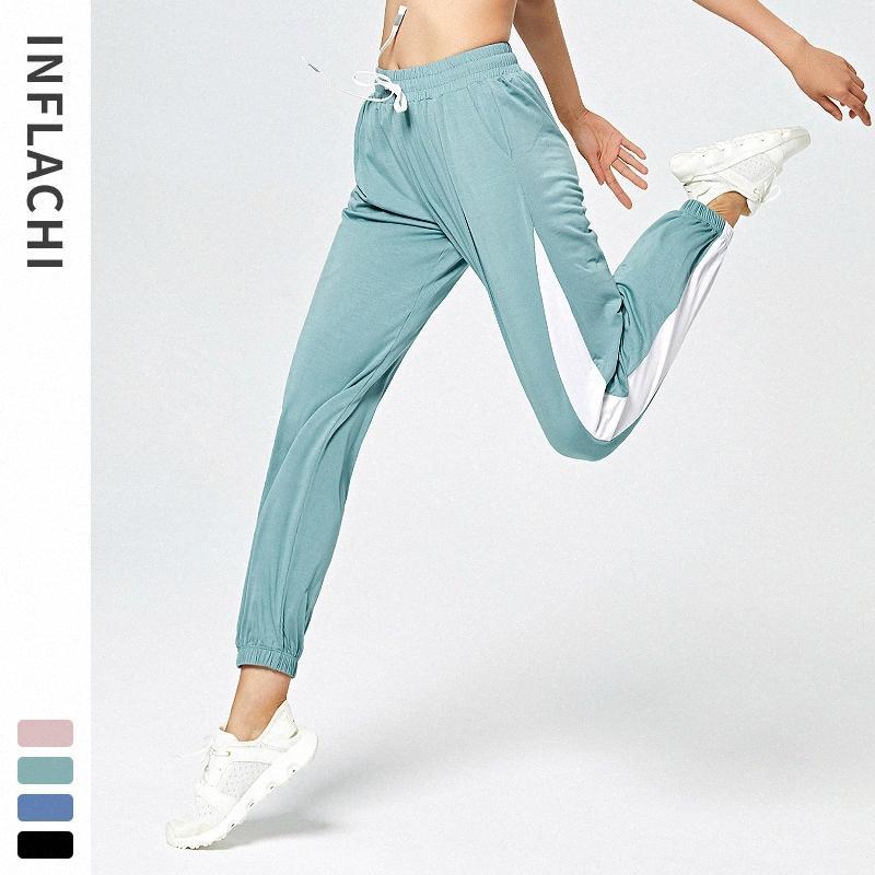 Mulheres Yoga calças Jogging Harem Pants Sports Atlético solto Sweatpants Quick Dry respirável macio Musculação Sportswear l4Bn #