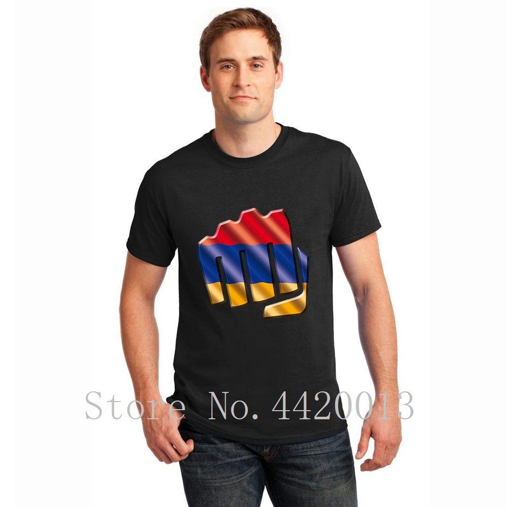 Designing Baumwolle Rundkragen armenia Letters Interessante Mode-Sommer-Art Brief Pop-Spitze T-shirt für Männer