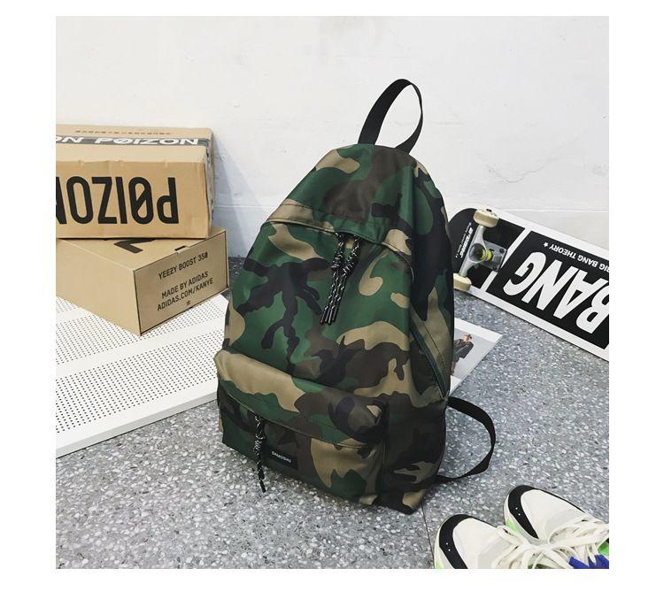 Zaino in nylon College Student sacchetto di scuola di moda zaino Campus uomini borsa da viaggio esterna impermeabile Moda Uomo