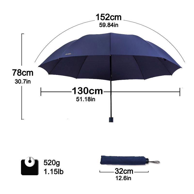2020 Anti uv Big Umbrella Rain Women Folding Windproof Sun Large Men Hi-Q Umbrellas Female Parasol