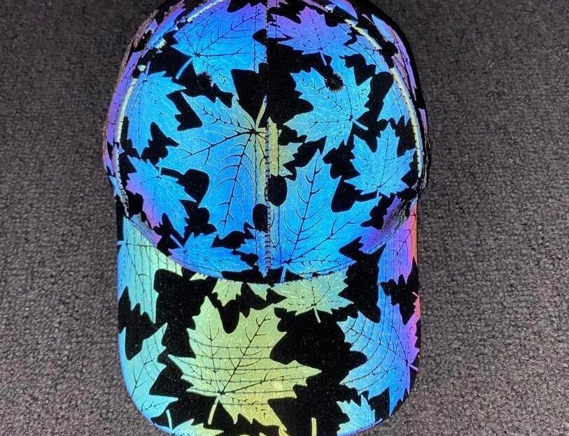 Les feuilles d'érable coloré hommes casquette de baseball réfléchissantes femmes hanche mode nouveauté réglable de danse hop hat66