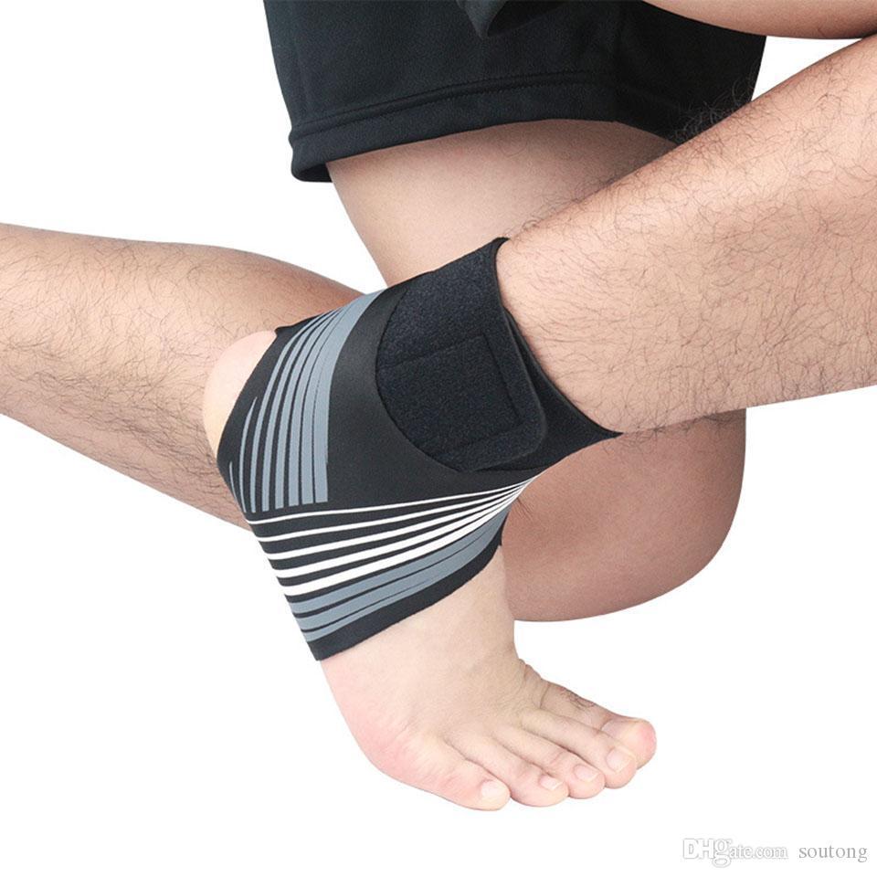 Nouveau Support de cheville Brace Elasticité Protection indéréglables pied Bandage Entorse Prévention Sport Fitness Garde de prévention