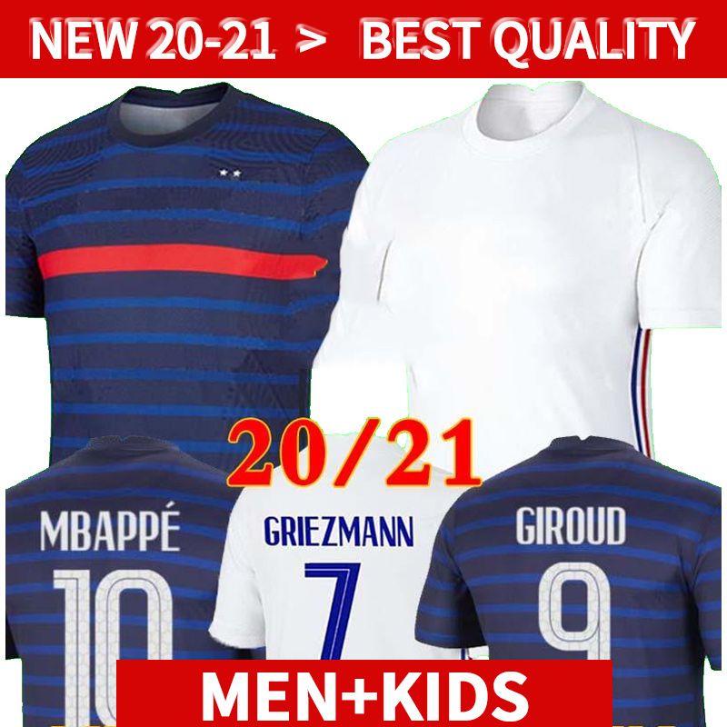 20 21 France MBAPPE GRIEZMANN POGBA jerseys 2020 2021 Soccer jersey Football shirts maillot de foot men + kids kit