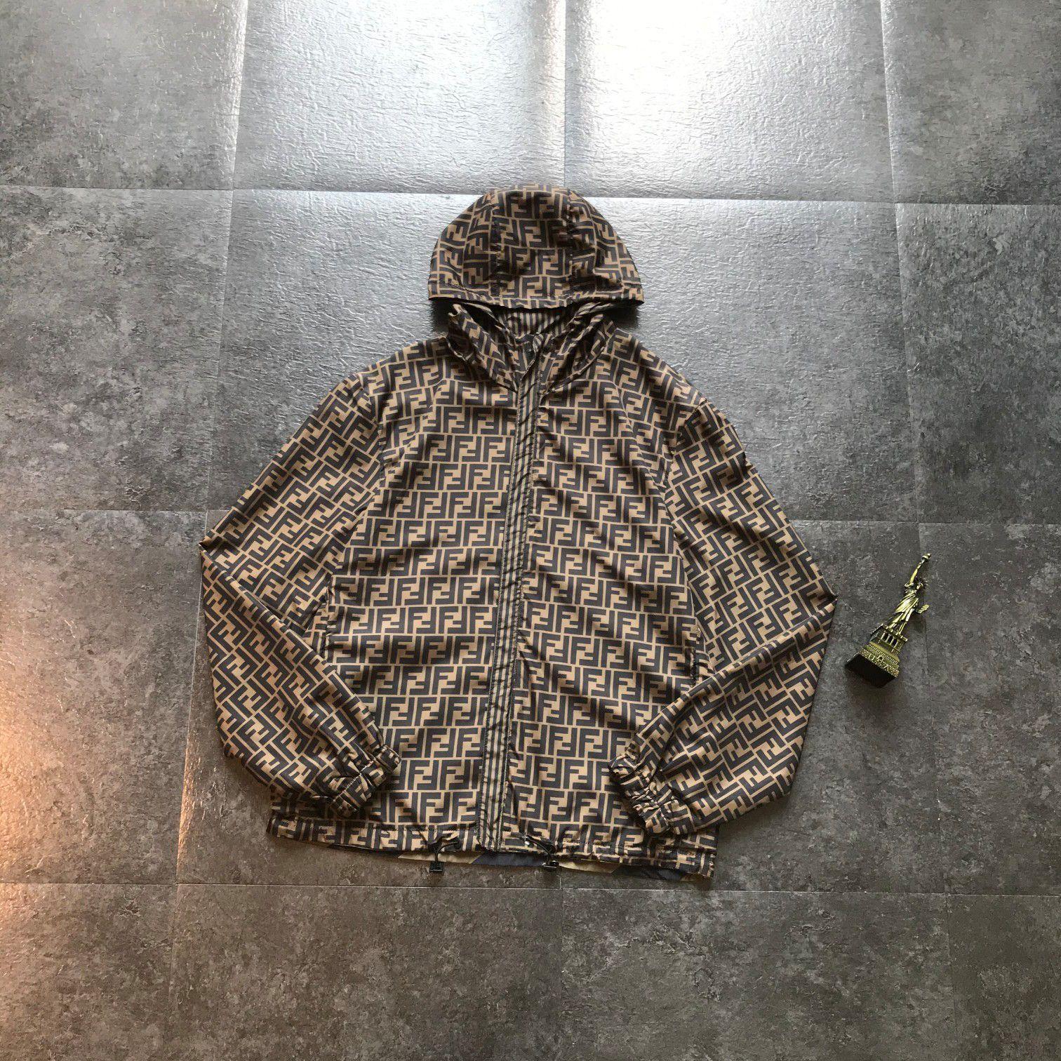 2020fw популярна мужские женские Дизайнеры фены Полного печать Тонкой куртки роскошь с длинным рукавом Толстовка FF открытого Streetwear высокого качества M-XXL 901
