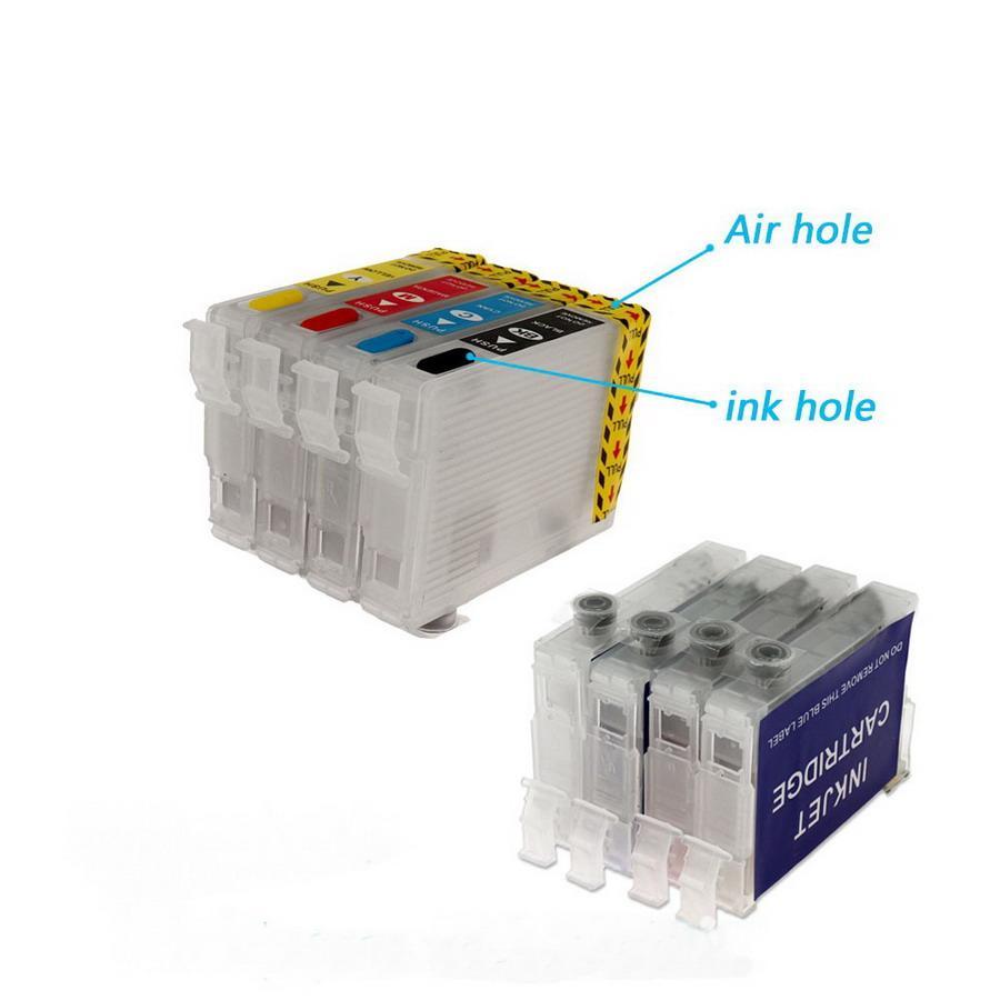 2 Takım / Lot 702 / 702XL Doldurulabilir Mürekkep Kartuşu için EPSON WF-3720 WF-3725 WF-3730 WF-3733 Yazıcı, Chipsiz