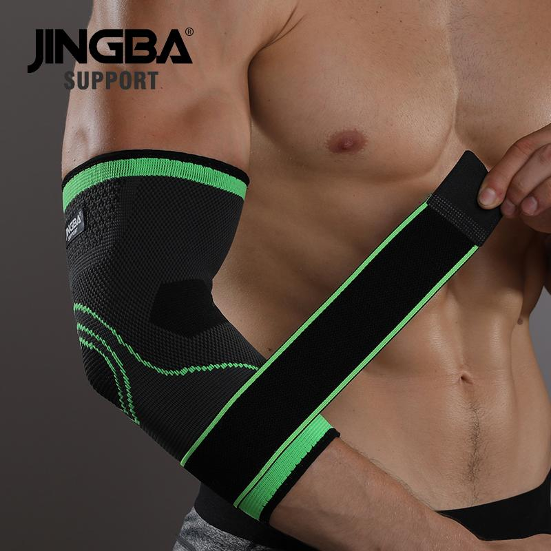 JINGBA SUPPORT 1PCS Nylon Ankle support Basketball knee pads Elbow brace protector +Wristband boxing hand wraps