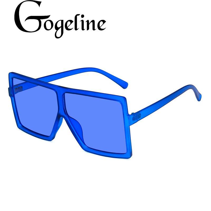 Óculos de sol grandes mulheres óculos de sol feminino óculos oversize óculos uv400 lente máscara moda conduzir novo laranja azul kemep