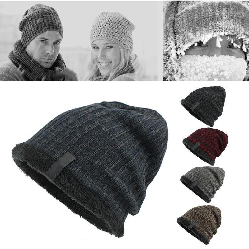 Шерсть трикотажные шапки Skullies шапки вязаные Hat Современным для мужчин кемпинга Велоспорт моды зимней одежды держать в тепле