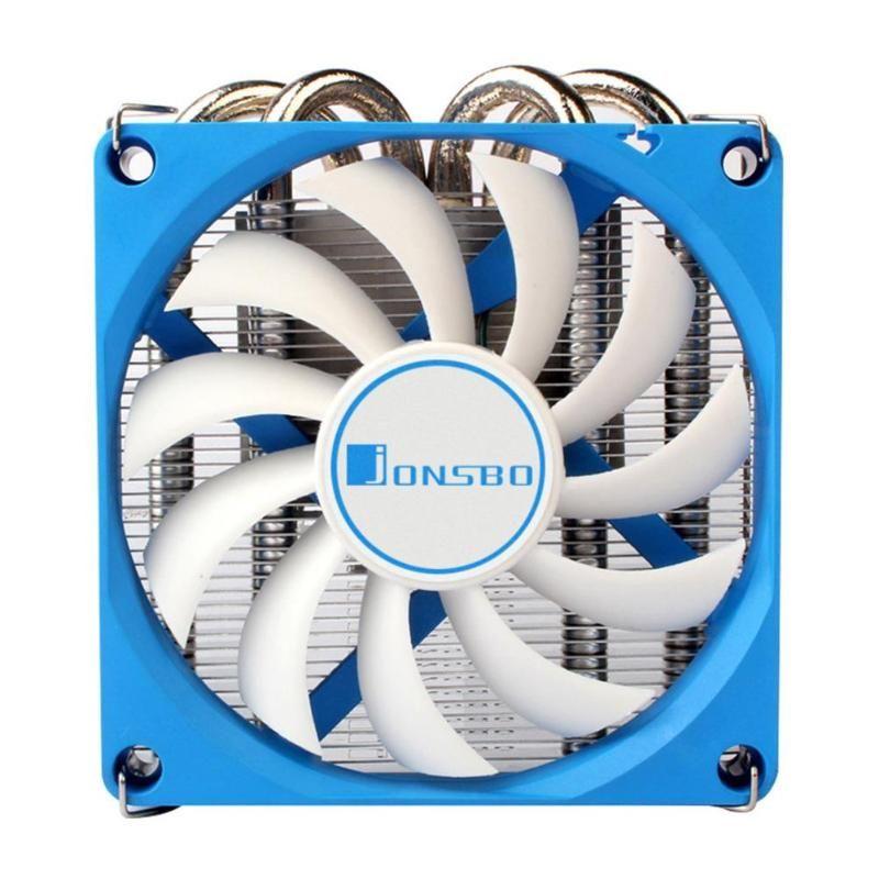 أنابيب Jonsbo -400 وحدة المعالجة المركزية برودة 4 حرارة المبرد وحدة المعالجة المركزية مروحة تبريد للHTPC حالة الكل في واحد كمبيوتر رقيقة جدا تبريد