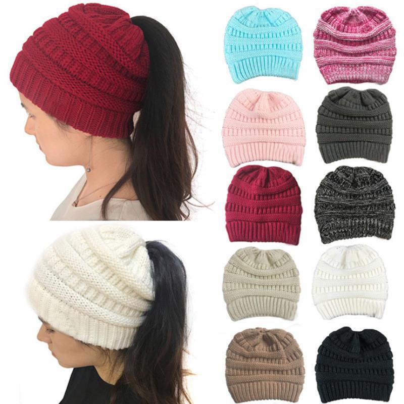 2020 Europa e América do Novo estilo de malha Cavalinha chapéu de malha de lã linha de inverno senhoras chapéu cap quente chapéus de festa FF214