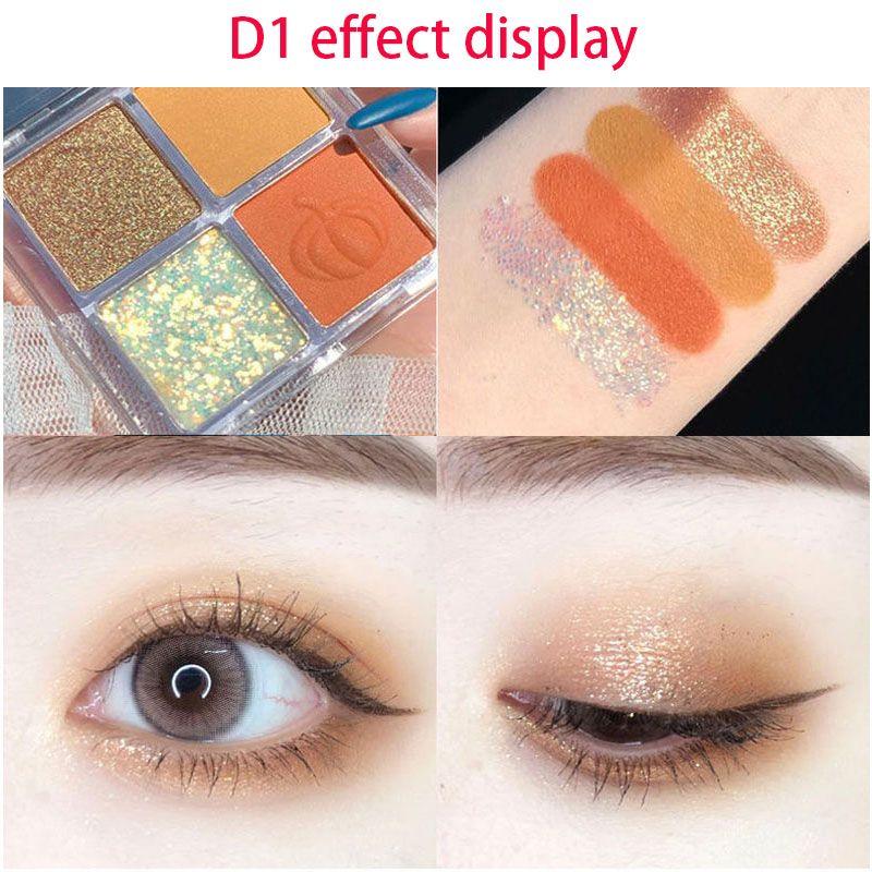 DIKALU 4Color Eyeshadow Palette Make up Palette Matte Shimmer Pigmented Easy to Wear