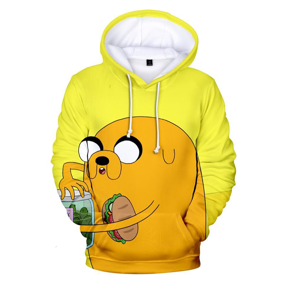 2020 Estados Unidos aventura dos desenhos animados Time 3D hoodies camisolas dos homens / mulheres camisola 3D da forma de Kawaii com capuz 4XL
