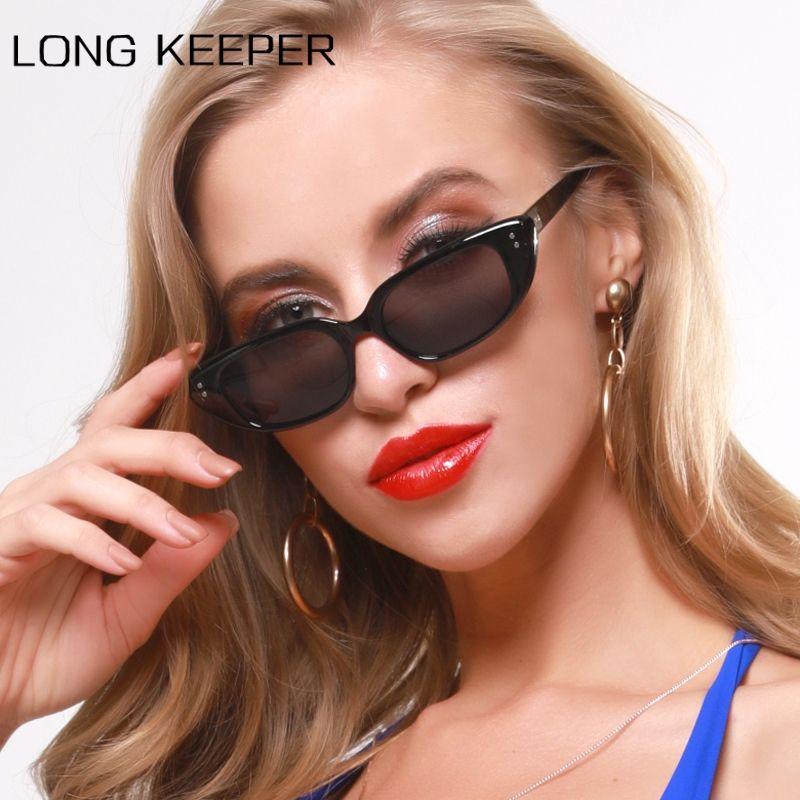 Long Keeper Cat Eyewear Narrow Sexy Zonnebril Rivet Small Ladies Sun Glasses Female Sunglasses Women Retro Eye Pqqxa