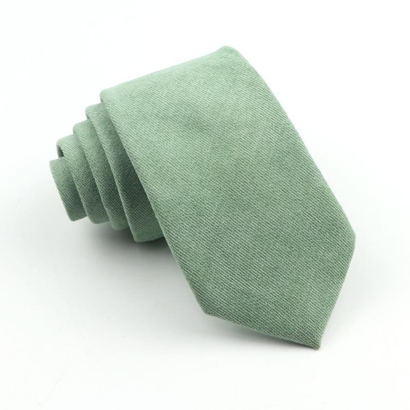 Erkek Süper Yumuşak Şeker Renk Kravat Klasik Gömlek Kaliteli Pamuk Tie İçin Düğün Skinny Mavi Sarı Yeşil Kravatlar Hediye