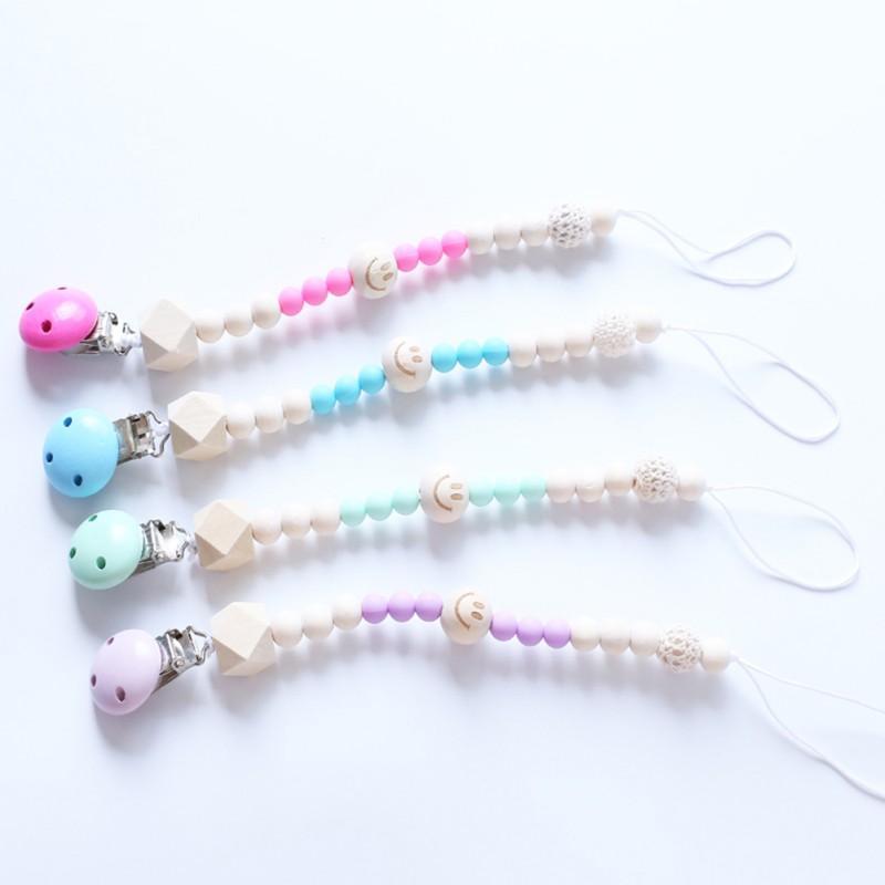3 stili tettarella clip ciuccio catena colorate a mano Perle Dummy clip del supporto Soother capezzoli per i bambini