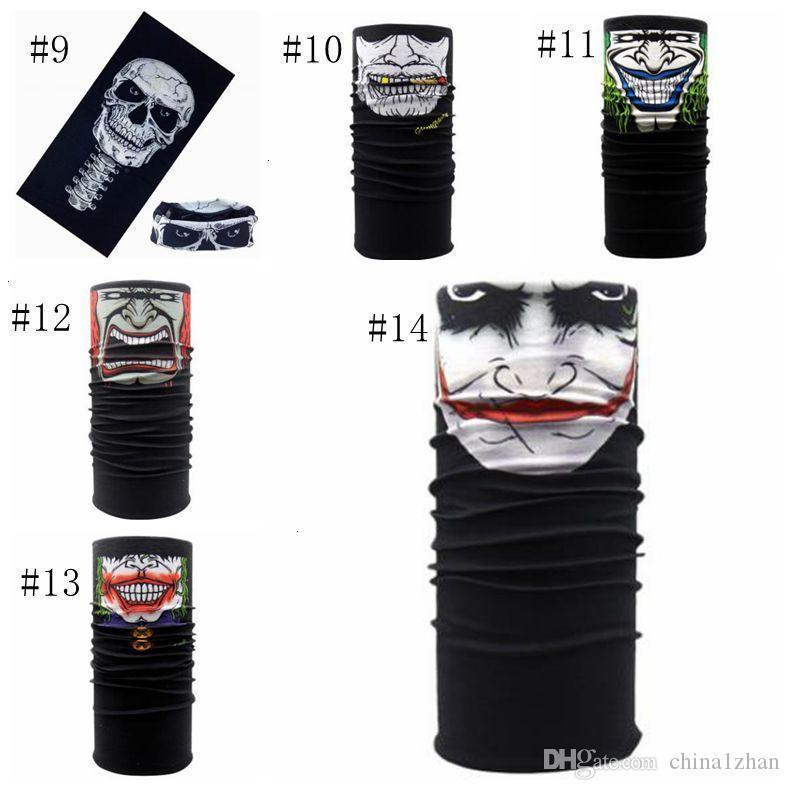 Маски для лица Черепа Горнолыжной Половина скелет Волшебной маски Призрак Велосипед шарф H H Бандана Спорт оголовье 14 Дизайна Dw5187