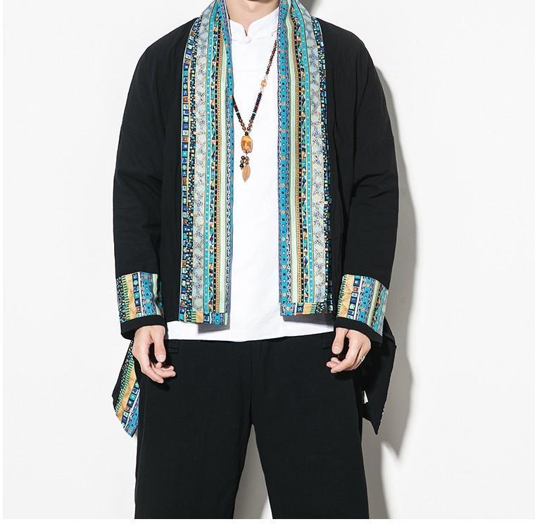 Sinicism loja 2020 Mens Primavera Impresso Cotton Casacos Men Estilo Chinês Casual Jacket solto Brasão Masculino Vintage Oversize Trench