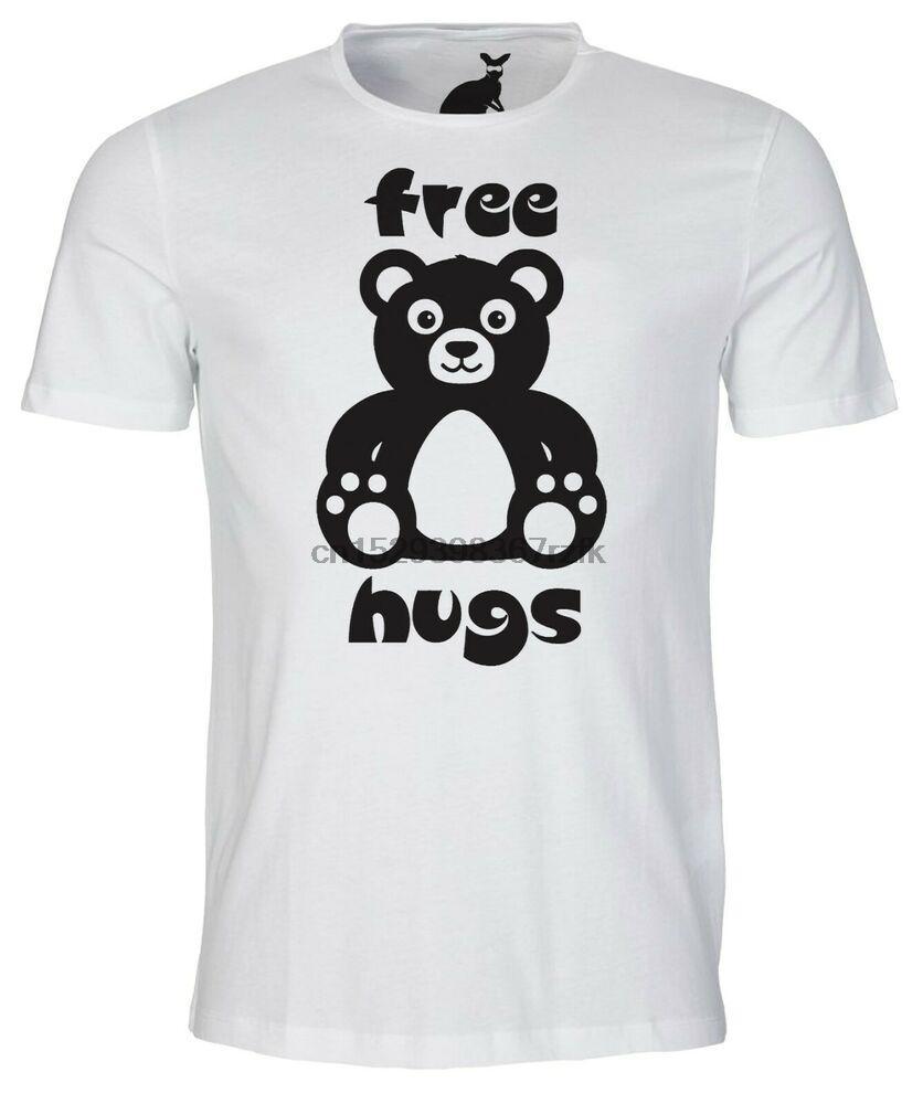ABRAÇOS LIVRES Mens t-shirt Amor do urso CUDDLE presente atual Afagos beijos românticos