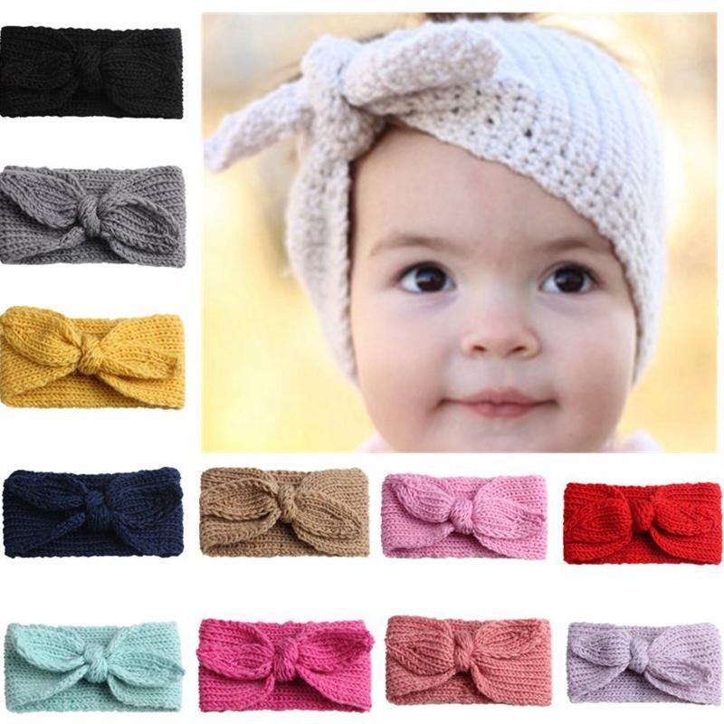bebê Carneiras hairbands cabelo arco Elástico para Orelhas bebés recém-nascidos Warmer bebê Headband Acessórios Knit Crochet Headbands KKA8088