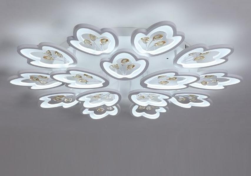 Cgjxs Moderne LED-Kristalldeckenleuchten für Wohnzimmer Schlafzimmer Weiß Acryl Plafon LED-Deckenleuchte Startseite Beleuchtung AC85 -260v Llfa