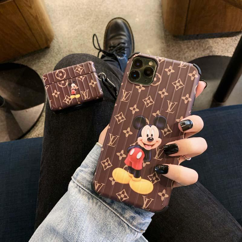 Wiah luxe Designer Phone pour iPhone 11 Pro Max 7 8 plus X XS Max XR SE mode TPU or couverture iPhone