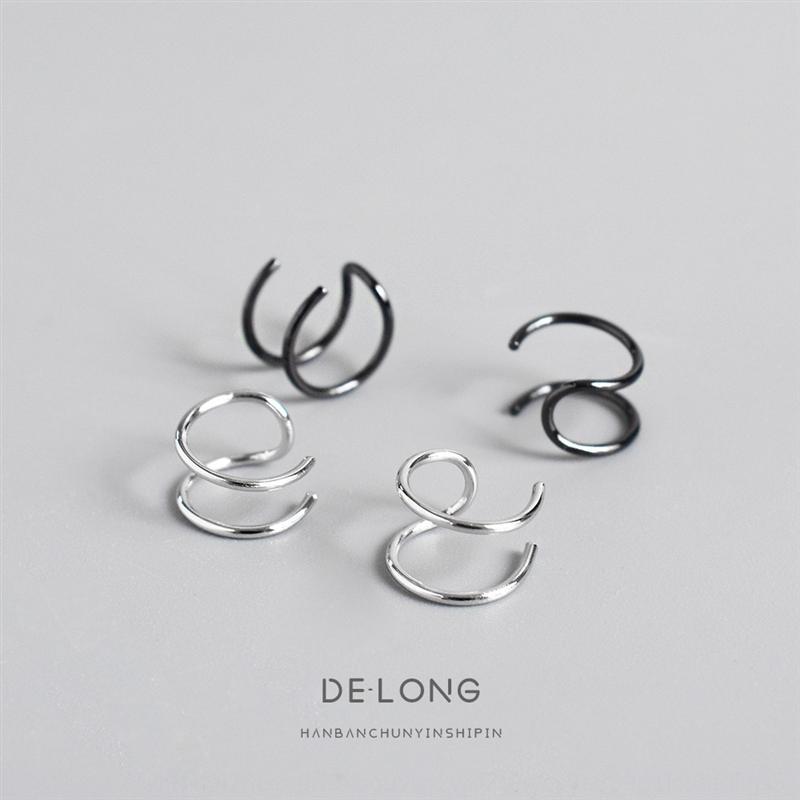 j8xQG Peronalized imple dupla camada clipe linha 925 Terling ilver Acceorie earear e brinco acessórios anel de orelha estilo coreano das mulheres witho