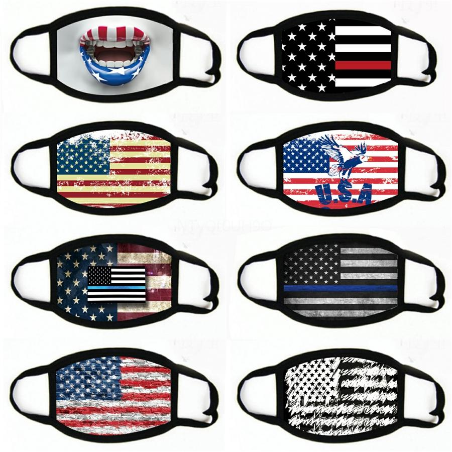 Fashion America Flag Ear Loops Stylish Men Women Gaiters For Dust Wind Bicycling Multi-Function Warmers#962