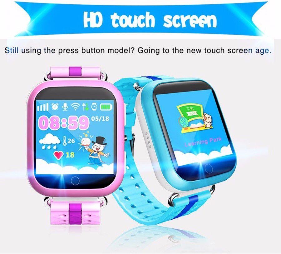 Inteligente GPS del reloj de Q750 Q100 Baby Watch wifi de la pantalla táctil 1.54inch SOS Call Equipo de Localización Tracker para Tolerado PK Q50 Q60 Q80