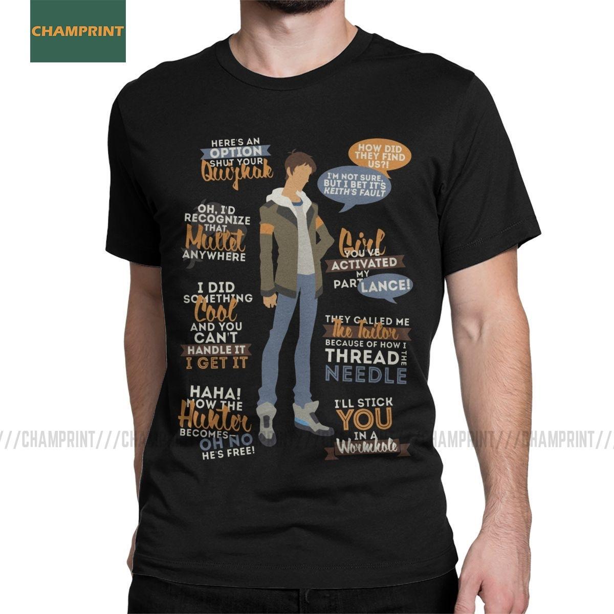 Lance Voltron défenseur de l'univers T-shirt coton pour hommes T-shirts Legendary Keith Shiro Pidge Hunk Anime T-shirts manches courtes