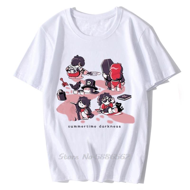 Goth divertente maglietta gotica Summertime Tenebre Uomo Estate Nuovo White Homme casual cool anime Tshirt Tees Harajuku