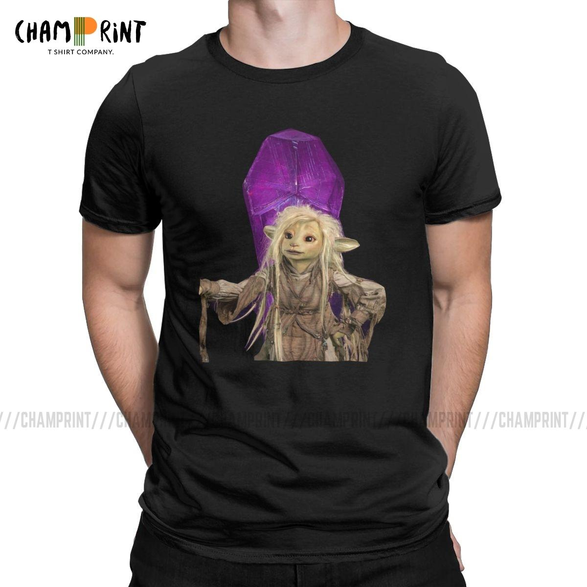 Homens Deet A Dark Crystal camisetas Fantasia Filme do vintage camiseta T-shirt gola redonda Short Sleeve Cotton Plus Size Clothes