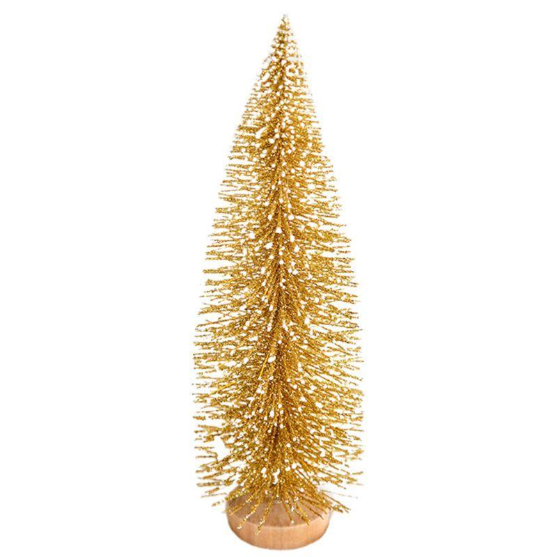 작은 몰려들 크리스마스 트리 스노우 글로브 귀여운 독특한 미니 젖 빛 병 브러시 나무 나무 자료와 예쁜 파티 장식