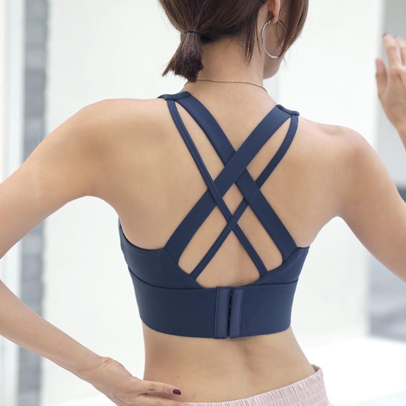 INS esplosione Sport biancheria intima femminile di bellezza Indietro Bra esecuzione Yoga Vest push up resistente Formazione anti-rilassamento Fitness Br