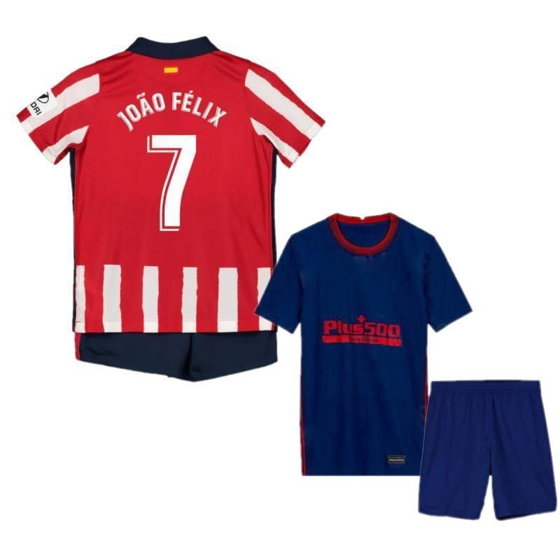 2020/21 Madrid Kid Kit 2021 # 7 JOAO FELIX CORREA VITOLO Kinder Jersey Boys # 9 MORATA SAUL LEMAR Kind-Fußball-Hemd