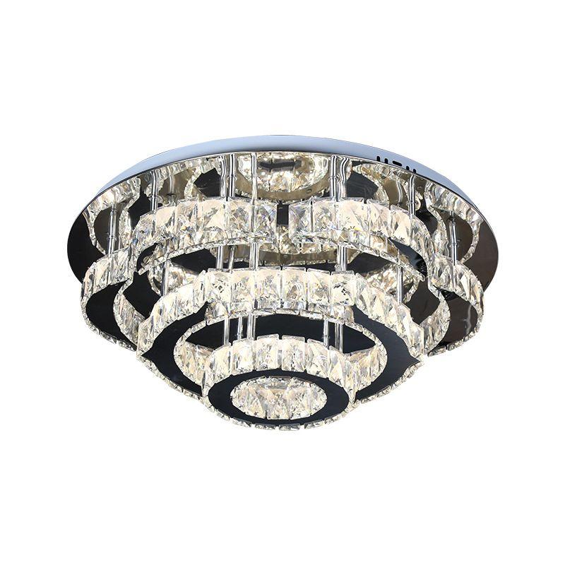 LED-Kristalldeckenleuchte Blumen-Edelstahl-Dimmbare 3 Color Home Waren Kristall-Lampen für Schlafzimmer