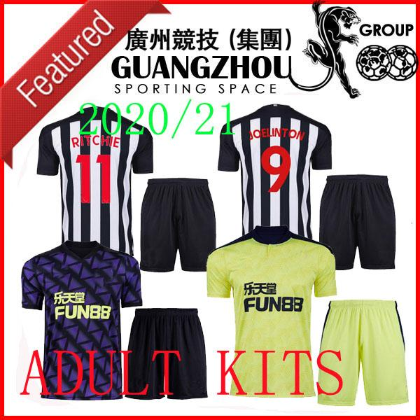 20 21 Ritchie Kits adultes Soccer Jerseys Home United Joelinto 2020 2021 Accueil Lascelles Shelvey Homme Chemises de football Homme Ensemble Kit