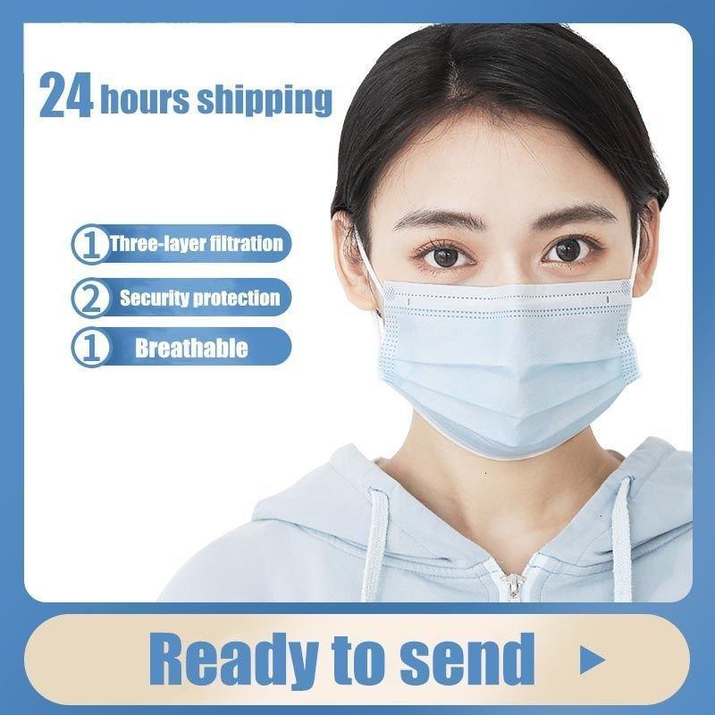 Ispessita monouso maschera di protezione a 3 strati 100pcs Caratteristiche non tessuta
