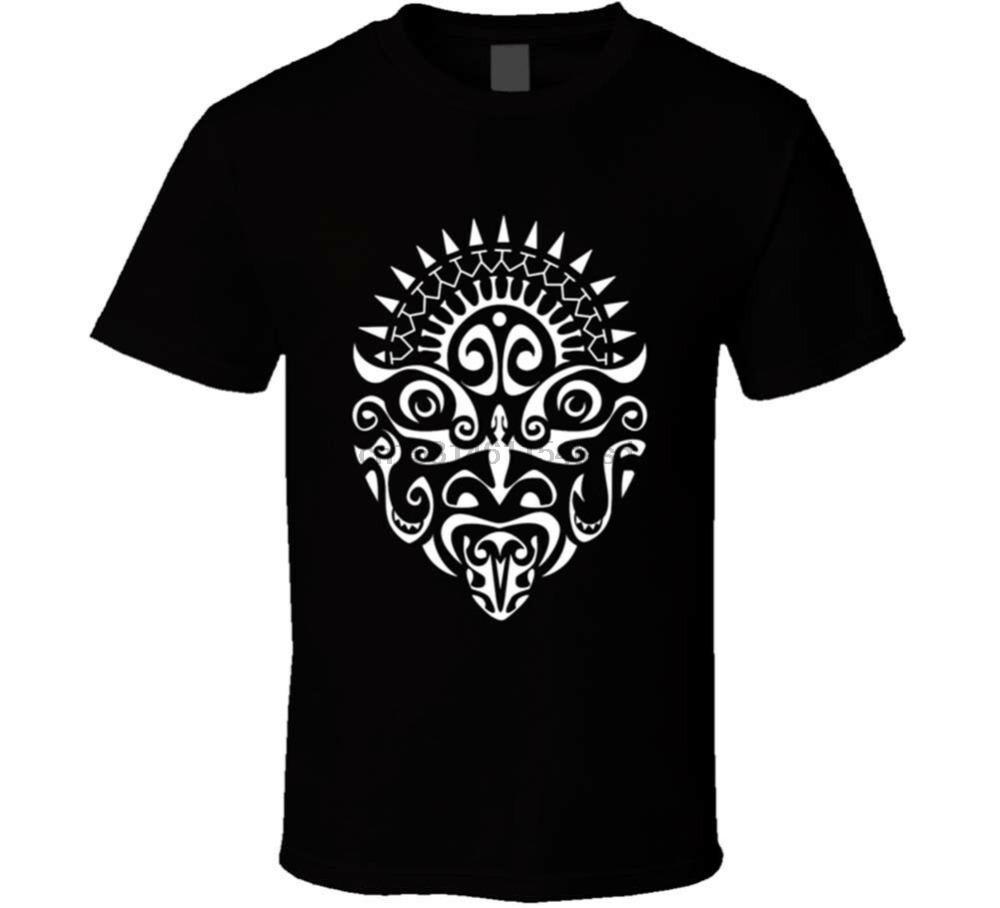 Maori Tattoo visage T-shirt noir T-shirt Nouvelle-Zélande Haka Danse De New-nous 2020 Mode Hot Sale Cool Summer Shirts pour hommes